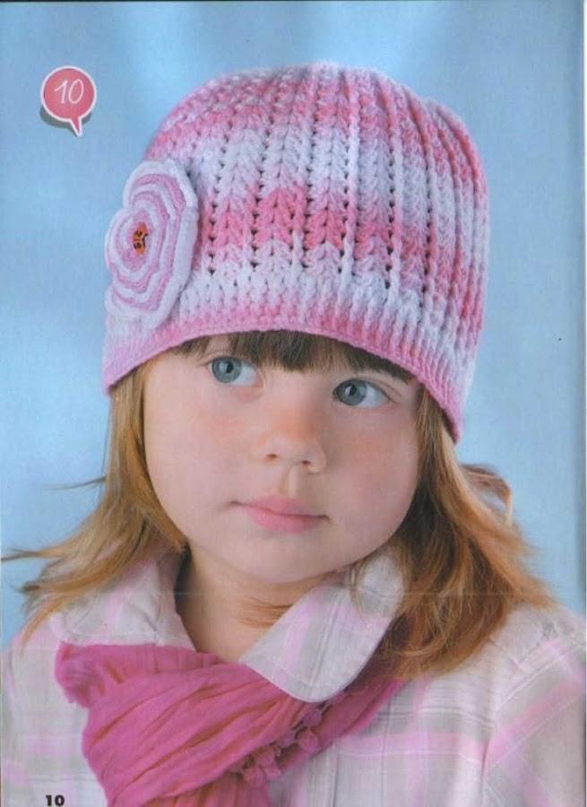 Шапочка на девочку спицами схема с описанием
