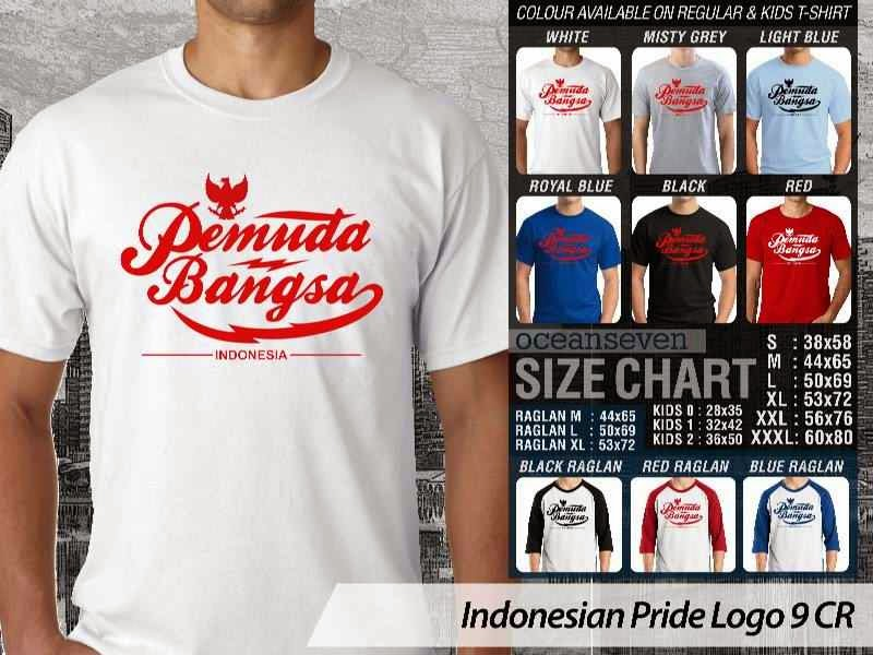 KAOS Pemuda Bangsa Indonesian Pride Logo 9 distro ocean seven