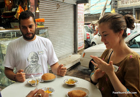 Eating Delhi breakfast http://indiafoodtour.com  http://foodtourindelhi.com