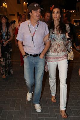 Пол Маккартни с женой Нэнси на Гран-при Абу-Даби 2011