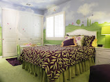 Samantha's Bedroom 1 of 3 - This enchanting bedroom was designed for a three year old little girl. The custom bedding is reversible.