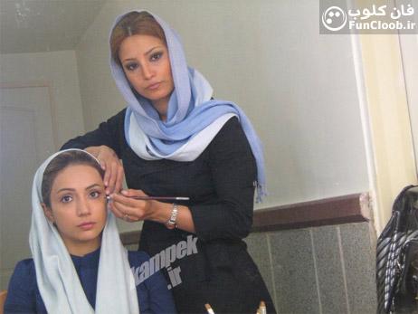 عکس شبنم قلی خانی در حال گریم