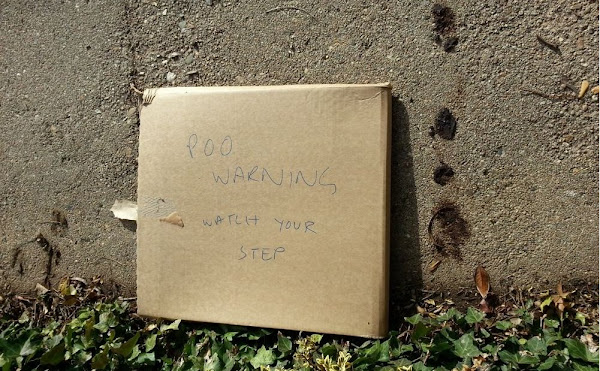 poo warning