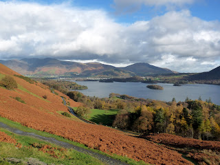 The bracken makes a more colourful photo of Derwentwater
