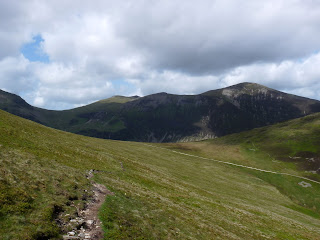 Looking back to Hopegill Head and Grisedale Pike