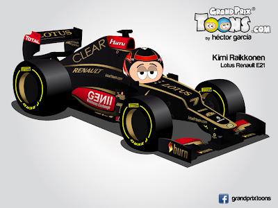 Кими Райкконен 2013 Lotus E21 Grand Prix Toons
