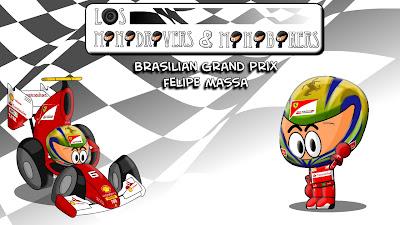 Фелипе Масса и Ferrari на Гран-при Бразилии 2011 Los MiniDrivers