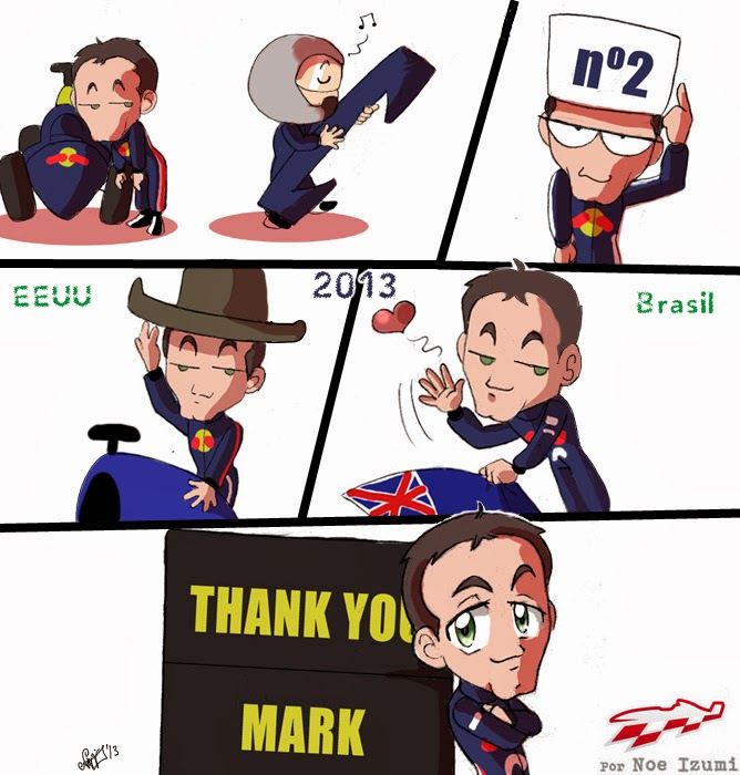 Спасибо, Марк Уэббер - чиби-комикс от Noe Izumi