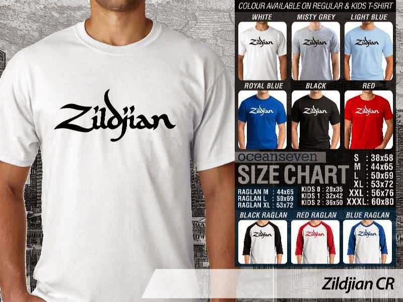 Kaos personel band Zildjian Alat Musik distro ocean seven