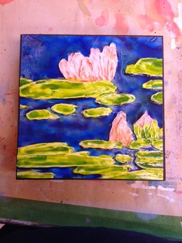painting water lily Robin Baratta artist