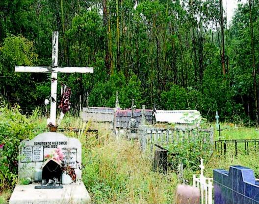 El cementerio indígena de Collihuinco está dentro del perímetro que contempla el proyecto minero