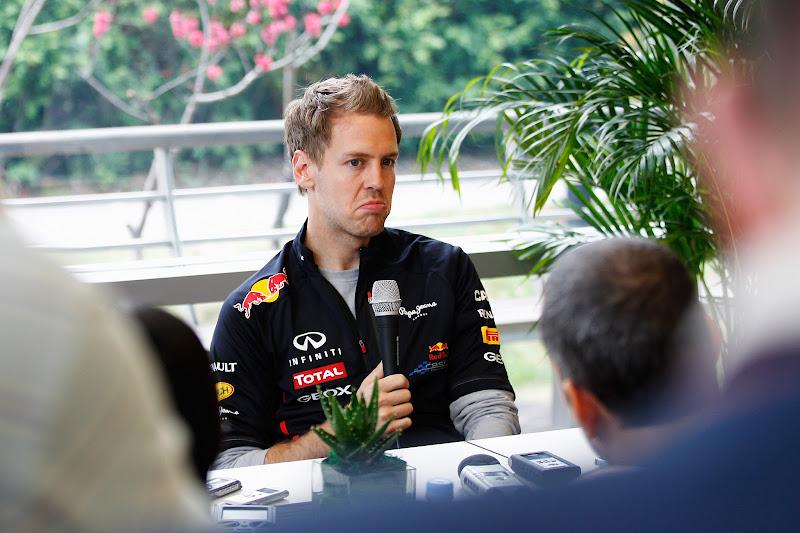 not bad от Себастьяна Феттеля во время интервью на Гран-при Китая 2012