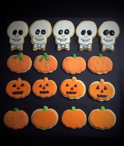 Ciastka halloween deser lukier masa cukrowa