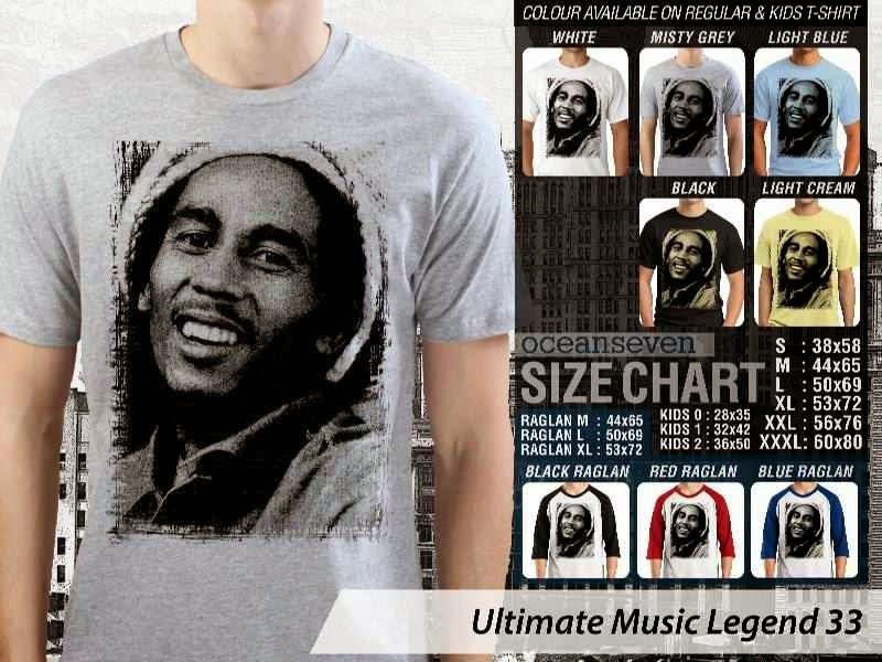 Kaos Bob Marley Legenda Musik 33 distro ocean seven