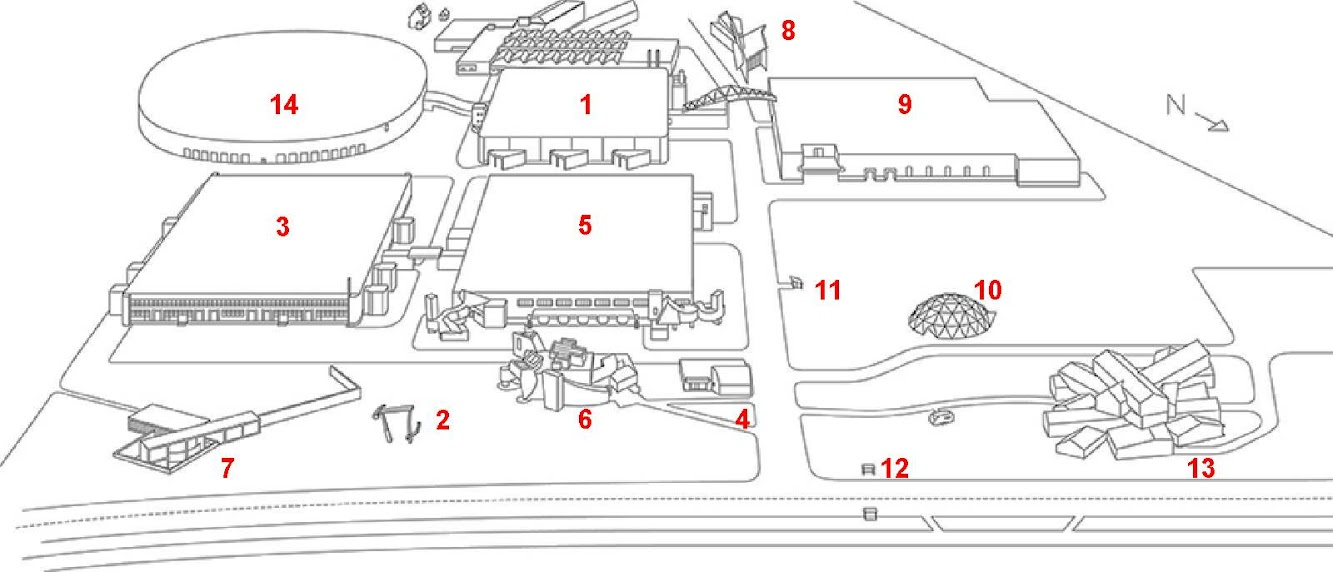 Vitra Campus Architecture Map