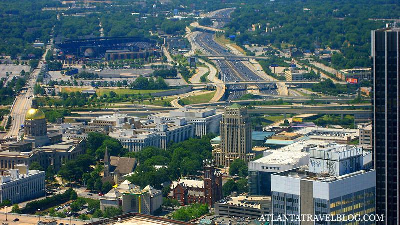 город Атланта - вид на центр