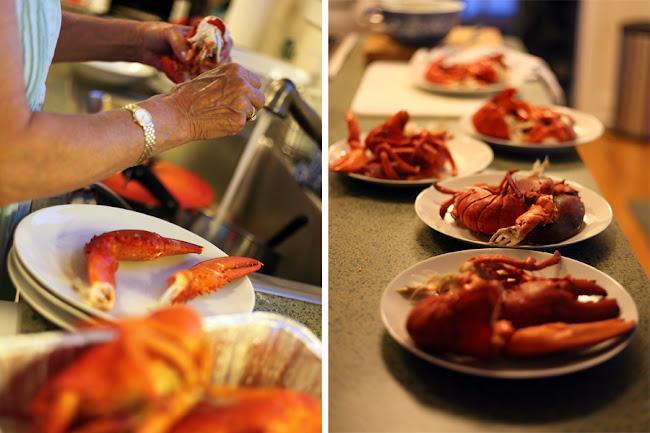 Preparing a lobster dinner