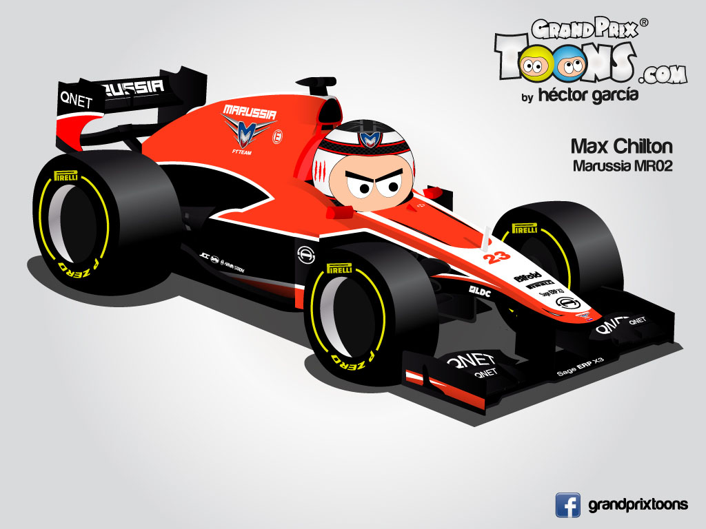 Макс Чилтон Marussia MR02 Grand Prix Toons 2013