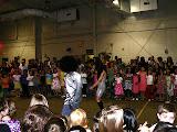 The teachers line dance