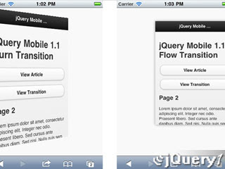jQuery Mobile 1.1: Smoother, Faster and Nicer