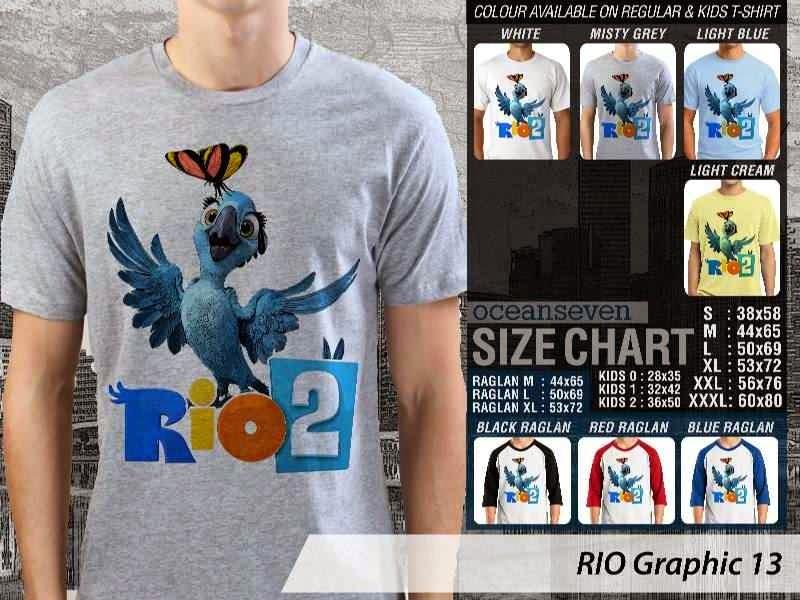 Kaos Film Animasi Lucu Desain RIO Graphic 13 distro ocean seven