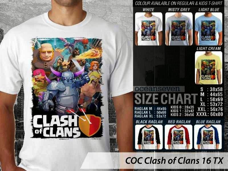 Kaos COC Clash of Clans 16 distro ocean seven