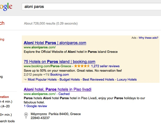 Google Adwords Hotel Case