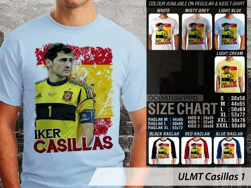 Kaos bola Iker Casillas Casillas 1 distro ocean seven