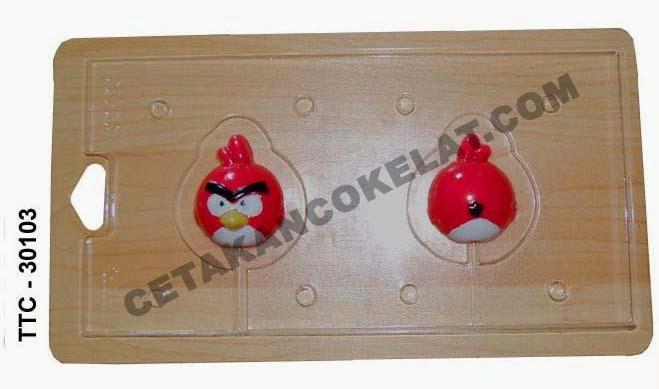 Cetakan Coklat cokelat TTC30102 Angrybird angry bird