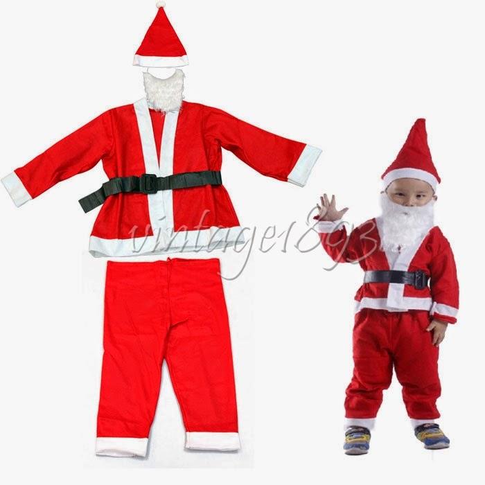 nikolauskost m weihnachtsmann anzug 5 st ck 8 10 jahre. Black Bedroom Furniture Sets. Home Design Ideas