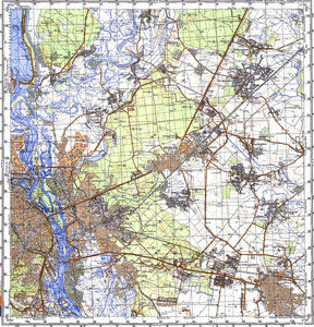 Map 100k--m36-050--(1991)