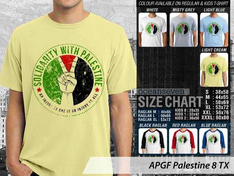 Kaos Muslim Islam Palestine 8 distro ocean seven