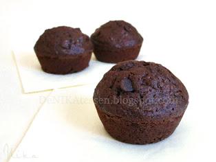 muffins de calabacin y chocolate