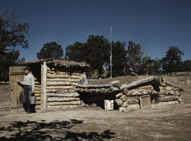 Dugout home. Pie Town, New Mexico. Oct. 1940 Russell Lee From Library of Congress