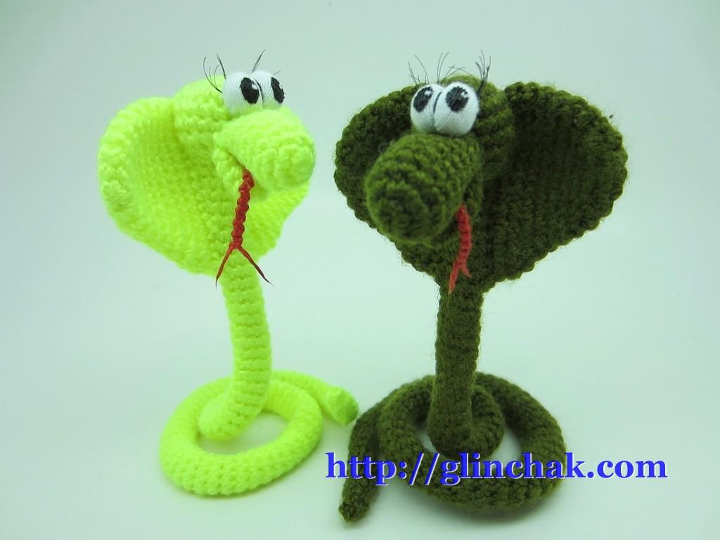 Вязание змеек крючком
