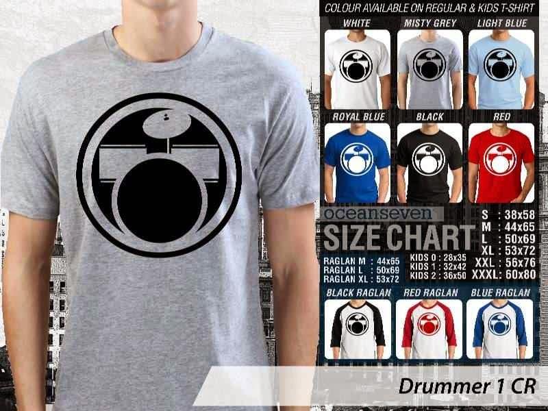 Kaos personel band Drummer 4 Personil Band Musik distro ocean seven