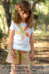 Patchwork shorts and Matching Tee