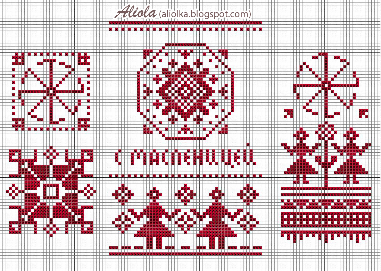 Схема вышивки макошь оберега 22