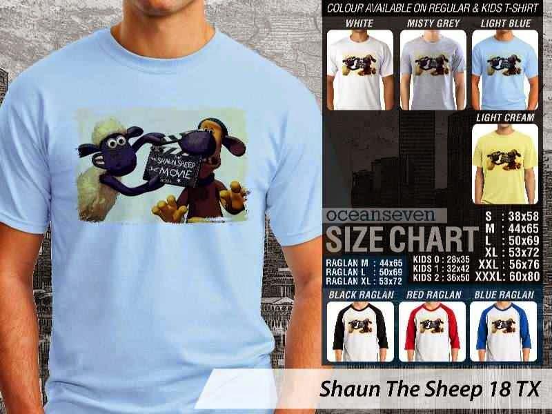 Kaos Movie Shaun The Sheep 18 distro ocean seven