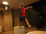 Al decided to impress us with his jumping ability