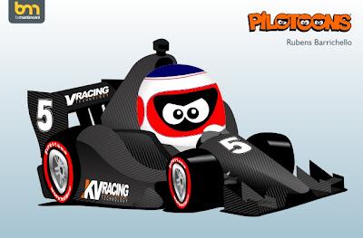 Рубенс Баррикелло IndyCar pilotoons 2012