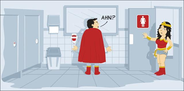 capa banheiro Pictograma confuso