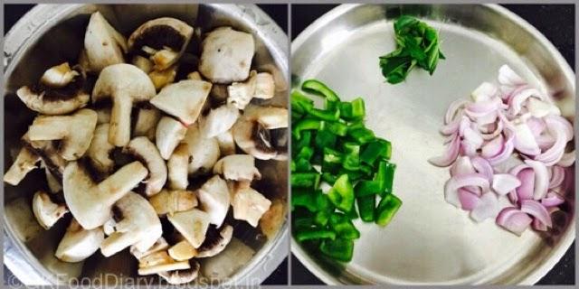 Mushroom Pepper Fry Recipe (Mushroom Recipes) - Kalan Milagu Varuval 2