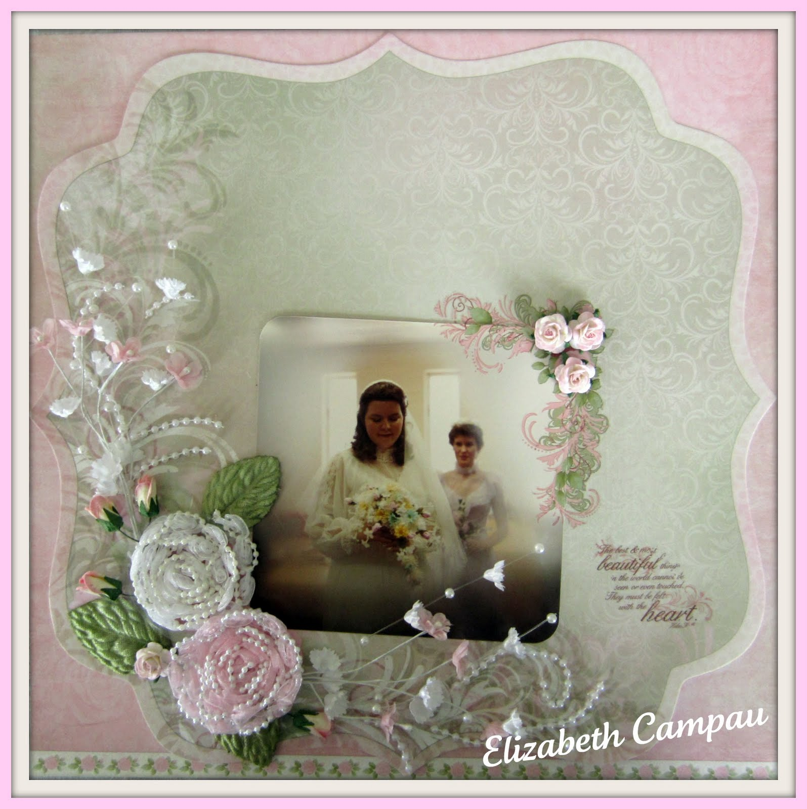 antique pink and black wedding