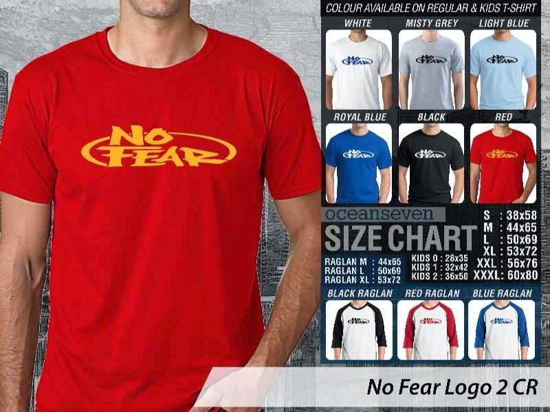 KAOS No Fear Logo Otomotif distro ocean seven