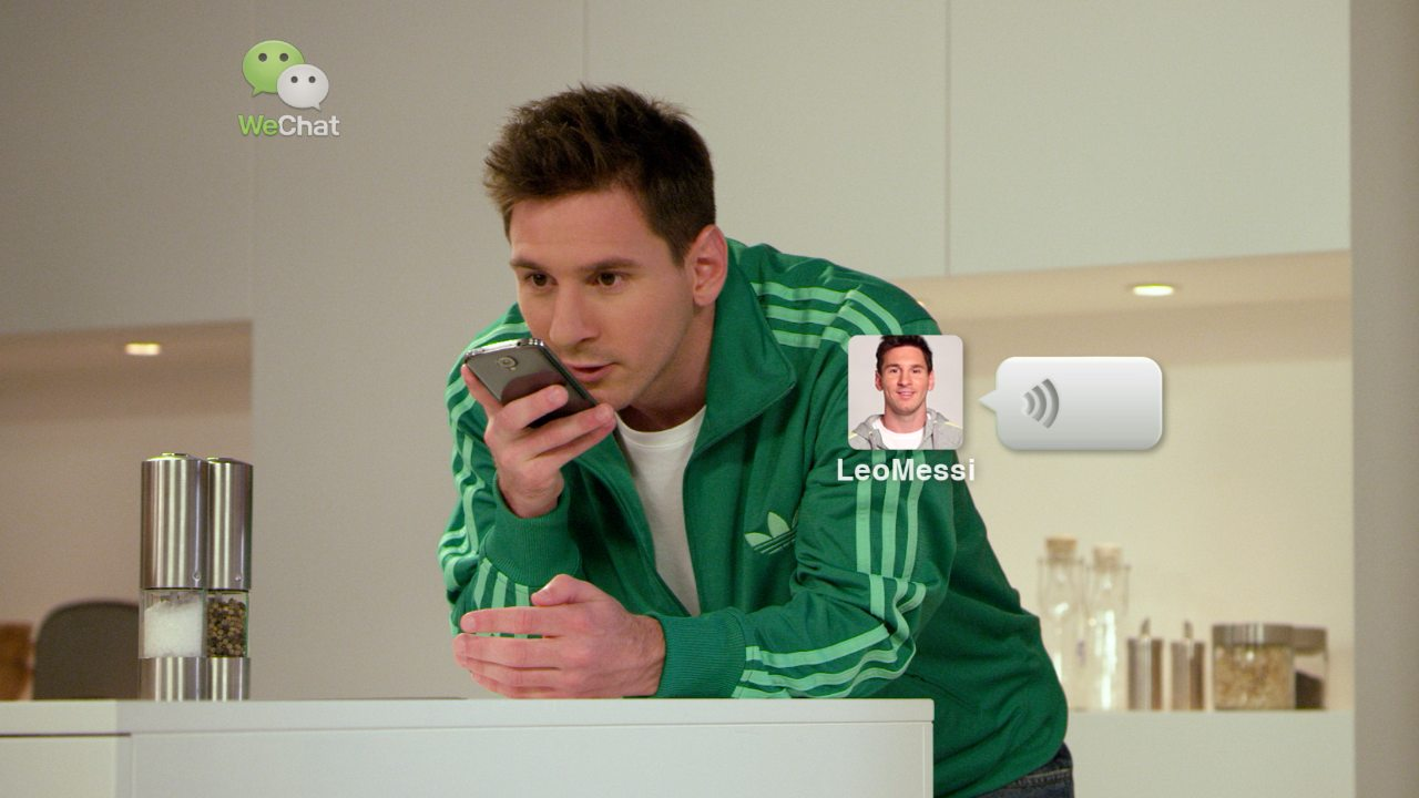 Leo Messi Helps His Mom Soothe His Baby From Crying In New WeChat Commercial