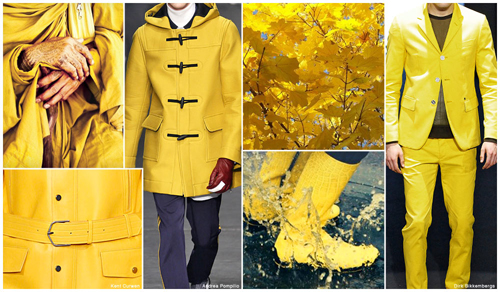 Bright Yellows - Men's Color Trends F/W 2016 -16 [men's fashion]