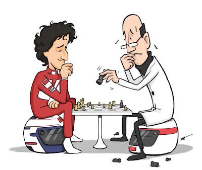 Алан Прост играет с Профессором - персонажи McLaren Tooned 2013