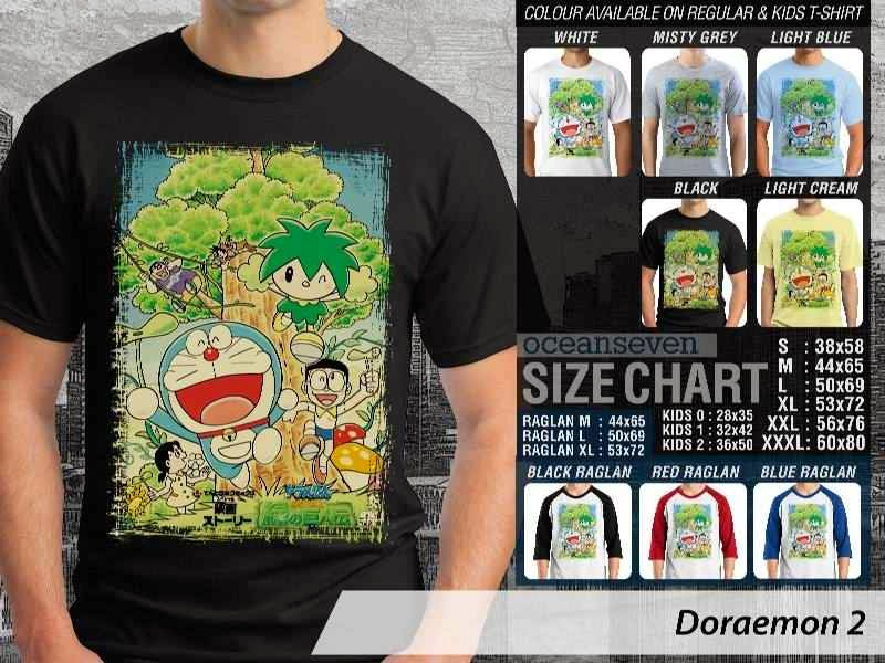 KAOS Doraemon 2 Manga Lucu distro ocean seven