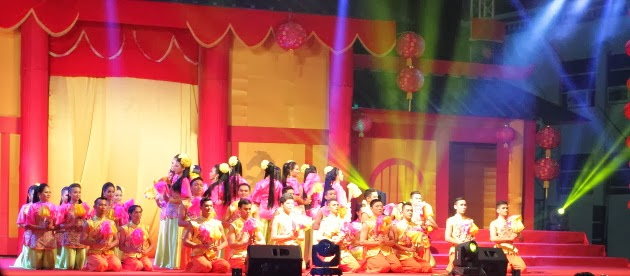 Perfornances galore at the Chinese New Year Open house at Taiping, Malaysia